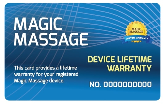 Magic Massage Lifetime Warranty Pack-1230